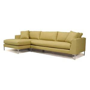 McCreary Modern 0351 Contemporary Sectional Sofa with Metal Legs and Left-Arm-Facing Chaise
