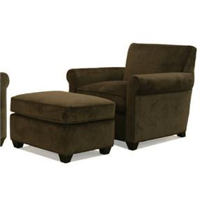 McCreary Modern 0491 Transitional Upholstered Arm Chair and Ottoman
