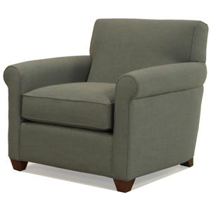 McCreary Modern 0491 Transitional Upholstered Arm Chair with Rolled Arms