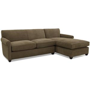 McCreary Modern 0491 Transitional L-Shaped Full Sleeper Sectional with Right Chaise