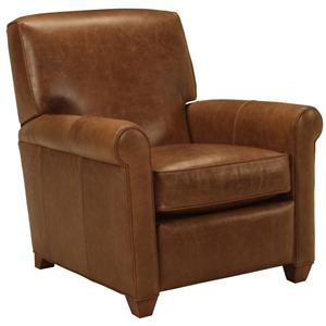 McCreary Modern 0491 Transitional Recliner with Exposed Wood Legs and Rolled Arms