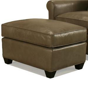 McCreary Modern 0491 Rectangular Ottoman with Block Wood Feet