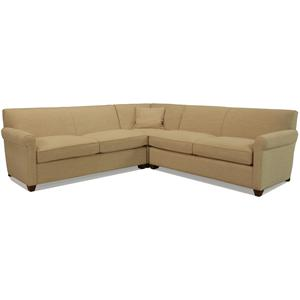 McCreary Modern 0491 Transitional L-Shaped Sectional Sofa