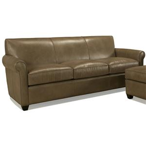 McCreary Modern 0491 Three Seat Sofa with Rolled Arms