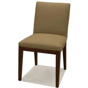 McCreary Modern 0531 Upholstered Dining Side Chair with Wood Legs