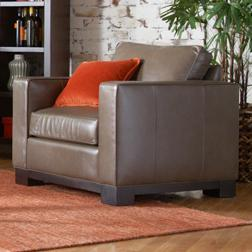 McCreary Modern 0555 Contemporary Upholstered Arm Chair with Wood Base Rail