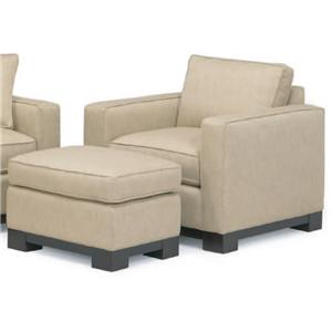 McCreary Modern 0555 Contemporary Upholstered Arm Chair with Ottoman