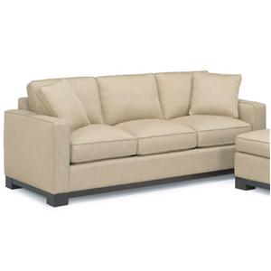 McCreary Modern 0555 Contemporary Sofa with Track Arms and Wood Base Rail