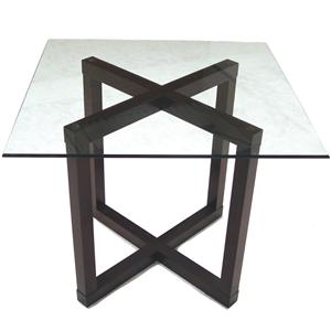 McCreary Modern Occasional Tables Counter Height Table with Beveled Glass