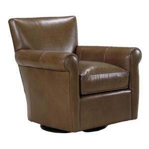 0611 Contemporary 360 Degree Swivel Chair with Rolled Arms by McCreary Modern