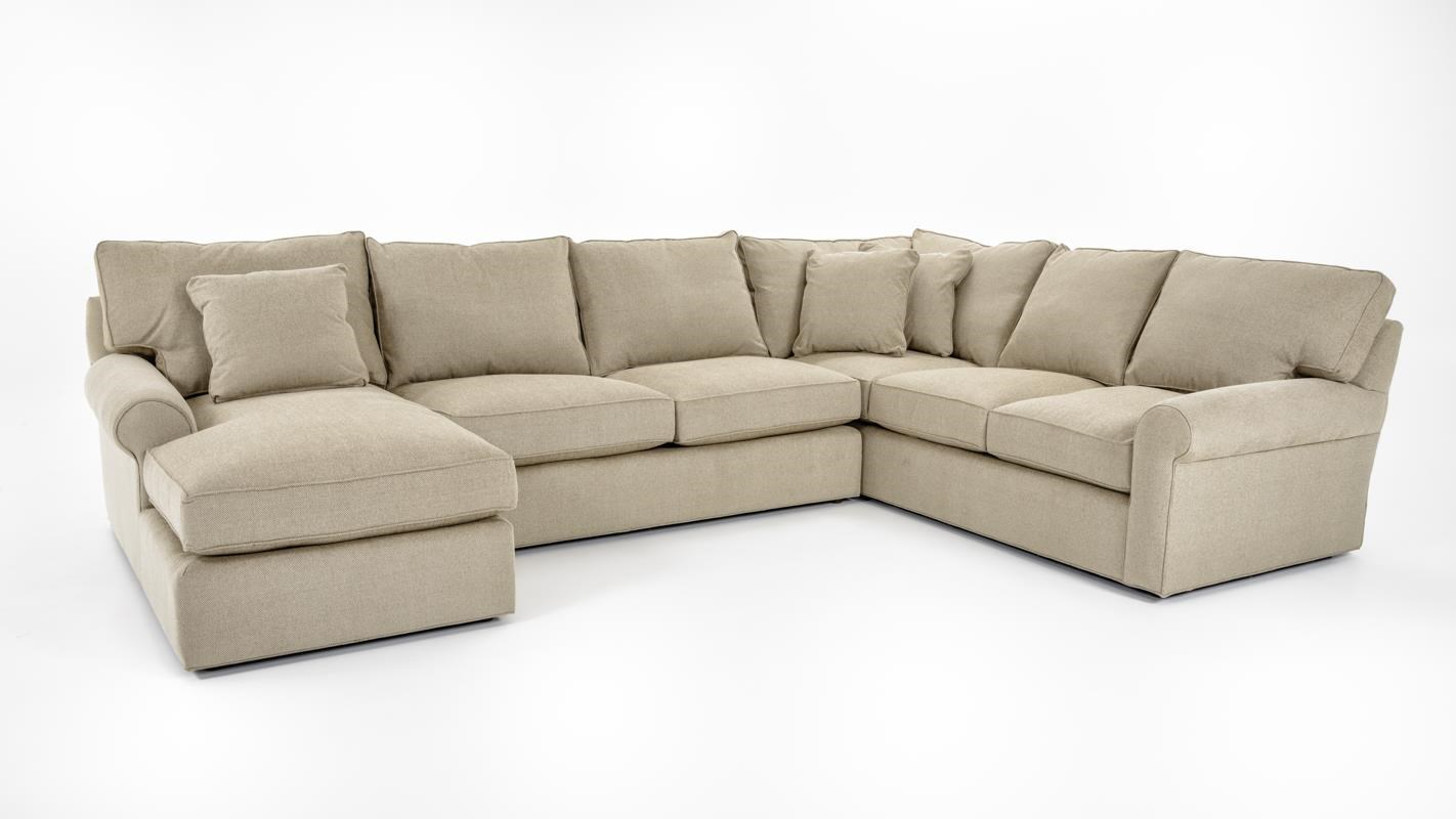 Freestyle collections 0659 harris sectional sofa with left for Bernhardt chaise lounge