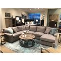 BeModern Harris Sectional Sofa with Right-Arm-Facing Chaise - Item Number: 0659-XLB+LOB+CRB