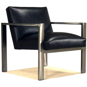 McCreary Modern 0705 Modern Exposed Metal Arm Accent Chair