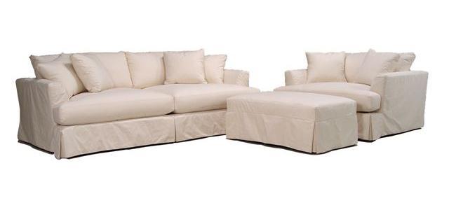Bemodern Cloud Grand Extra Long Slipcover Sofa Belfort