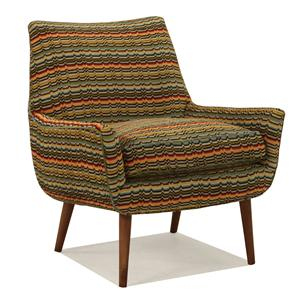 McCreary Modern 0917 Upholstered Chair with Wood Legs