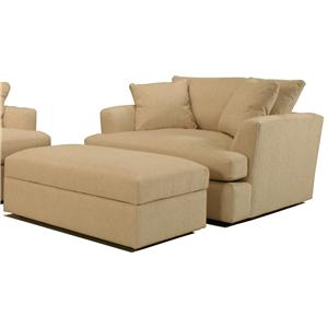 BeModern Cirrus Chair and a Half and Ottoman