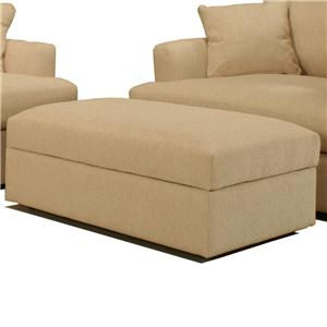McCreary Modern 0977 Large Contemporary Rectangular Ottoman