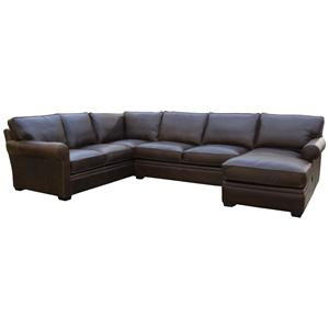 McCreary Modern 1251 Large, Comfortable Corner Sofa with Chaise