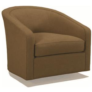 McCreary Modern 1015 Contemporary Swivel Barrel Chair
