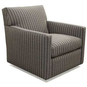 McCreary Modern 1050 Contemporary Swivel Chair with Track Arms