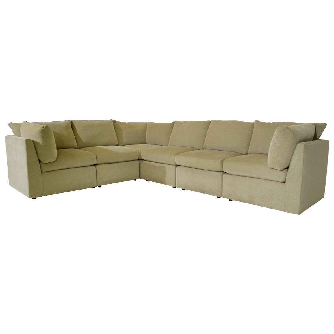 McCreary Modern 1057 Sectional - Item Number: 1057-AOB-Divani Pearl
