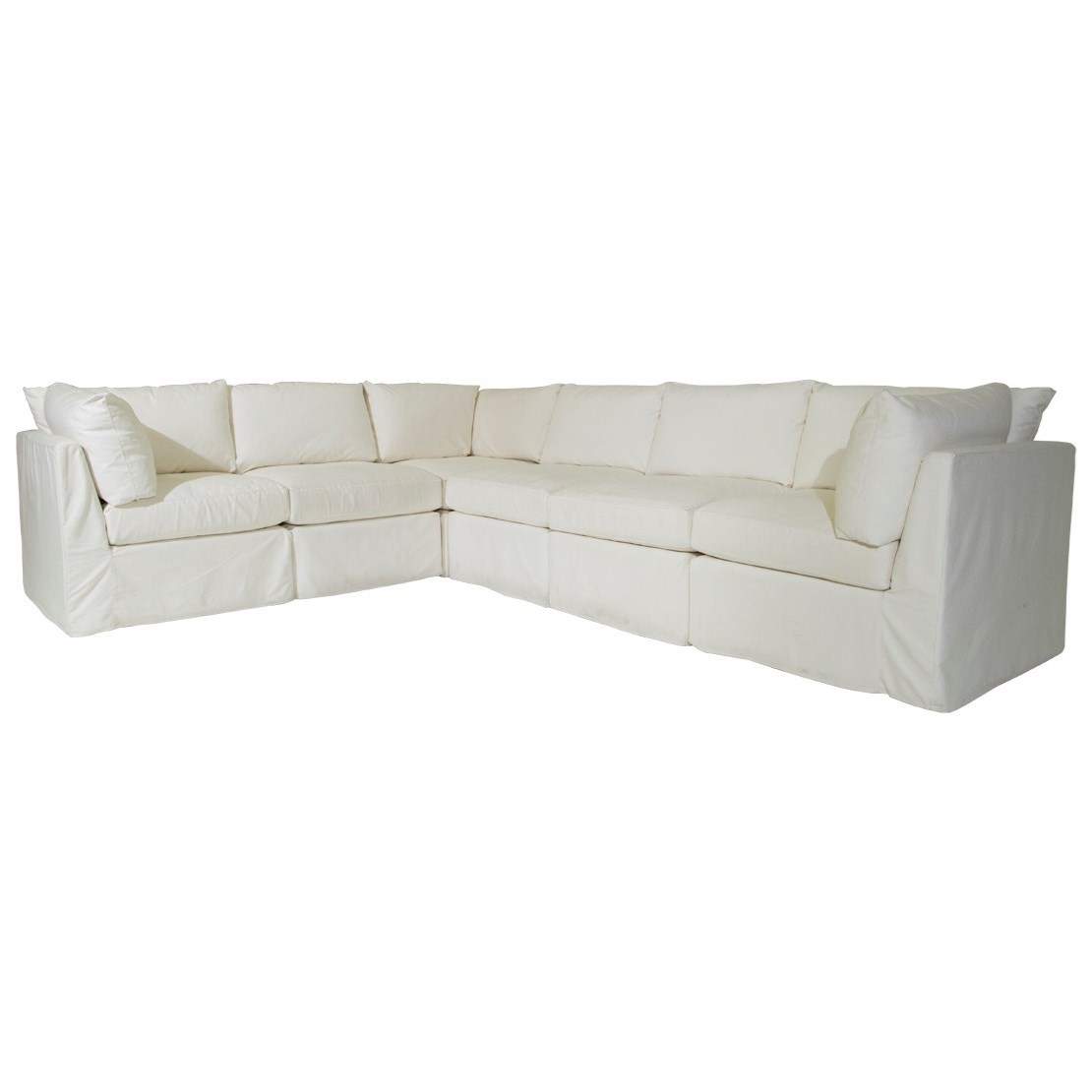 McCreary Modern 1058 Slipcover Sectional - Item Number: 1058-Daryl Natural