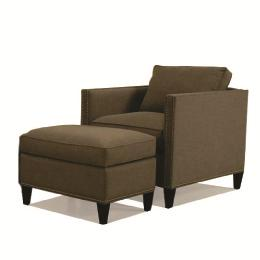 McCreary Modern 1059 Upholstered Chair and Ottoman with Tapered Legs