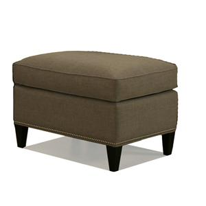 McCreary Modern 1059 Upholstered Ottoman with Tapered Legs