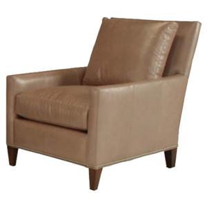 McCreary Modern 1065 Modern Lounge Chair with Exposed Wood Legs
