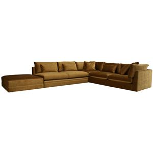 McCreary Modern 1083 Extra Long Sectional With Left Facing Cocktail