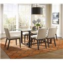 BeModern Argo Rectangular Dining Table with Glass Top