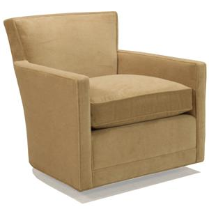 McCreary Modern 1129 Leather Swivel Glider Chair