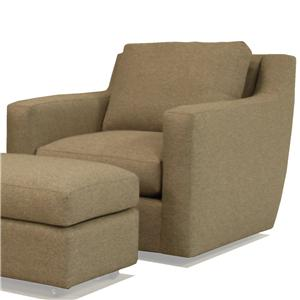 McCreary Modern 1191 Modern Swivel Chair with Track Arms