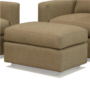 McCreary Modern 1191 Contemporary Rectangular Ottoman with Casters