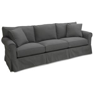 1252 Slipcover Sofa with Rolled Arms and Skirt by McCreary Modern