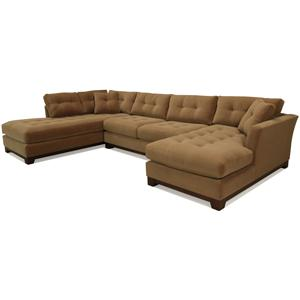 McCreary Modern 1260 Contemporary Sectional Sofa with Flared Arms and Tufted Cushions