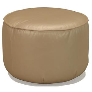 12CC Round Upholstered Ottoman with Hidden Casters by McCreary Modern