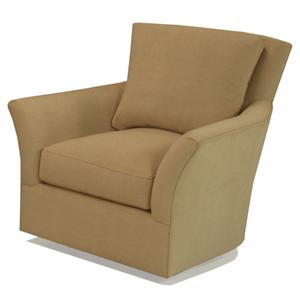 1392 Upholstered Swivel Chair with Flared Arms by McCreary Modern