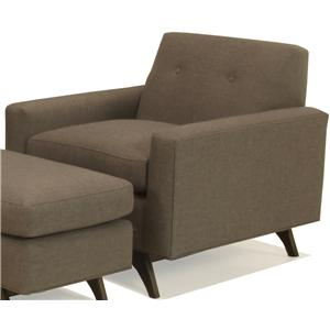 McCreary Modern 1482 Mid-Century Modern Upholstered Chair with Tufted Back