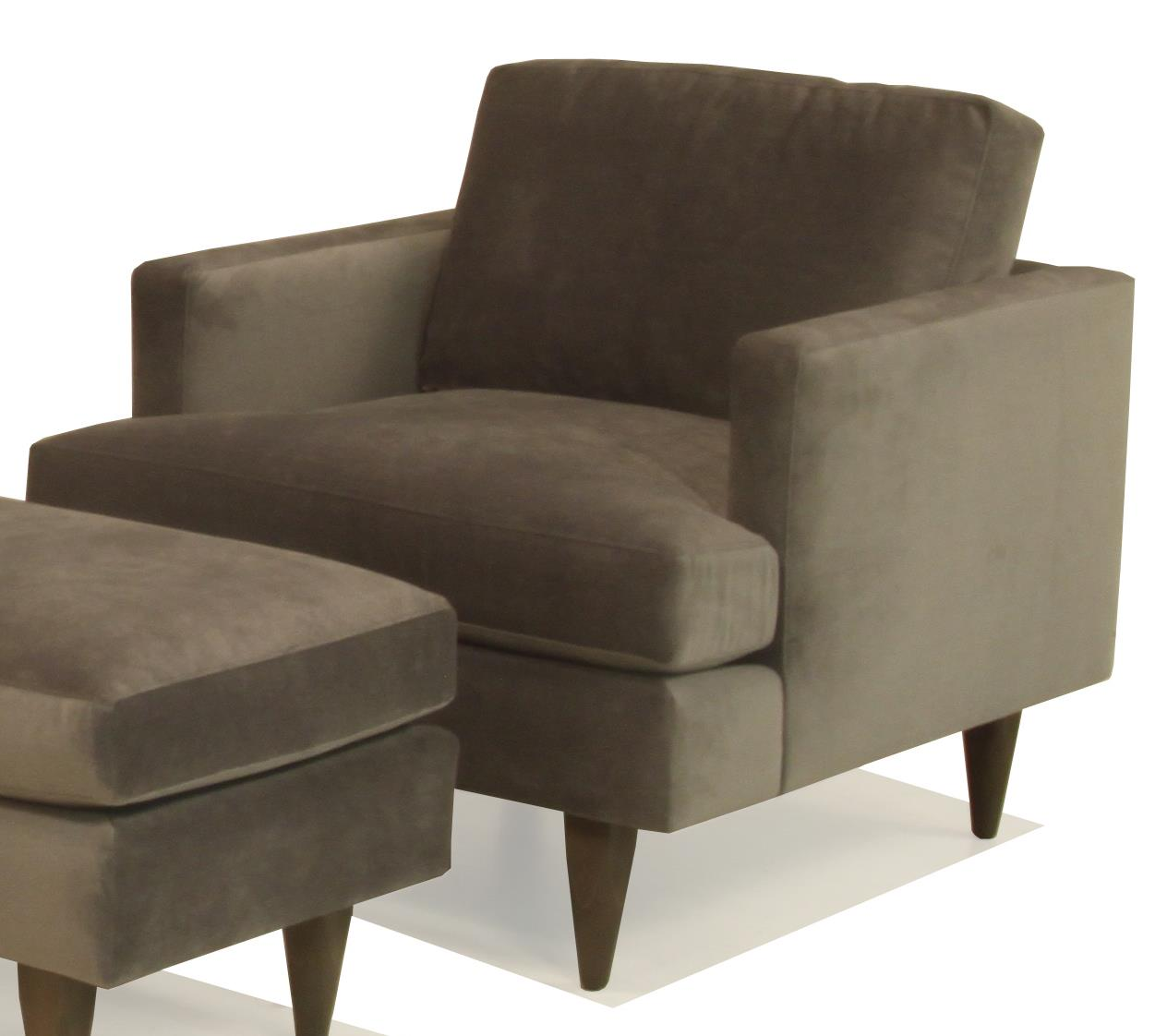 Upholstered Chair with Track Arm