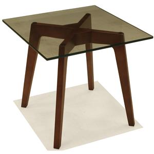 BeModern 15ET Square End Table with Glass Top