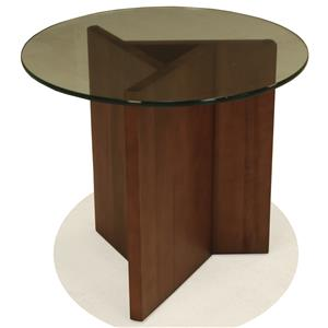 BeModern 15ET Round End Table with Glass Top