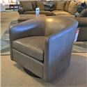 BeModern 1618 Leather Swivel Chair - Item Number: 517108982