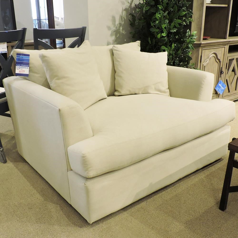 Clearance 53 Inch Chair 1/2 by BeModern at Belfort Furniture