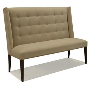 Bon McCreary Modern Dining Items Upholstered Dining Settee With Tufted Wing Back