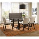 BeModern Dining Items Upholstered Dining Settee with Tufted Wing Back