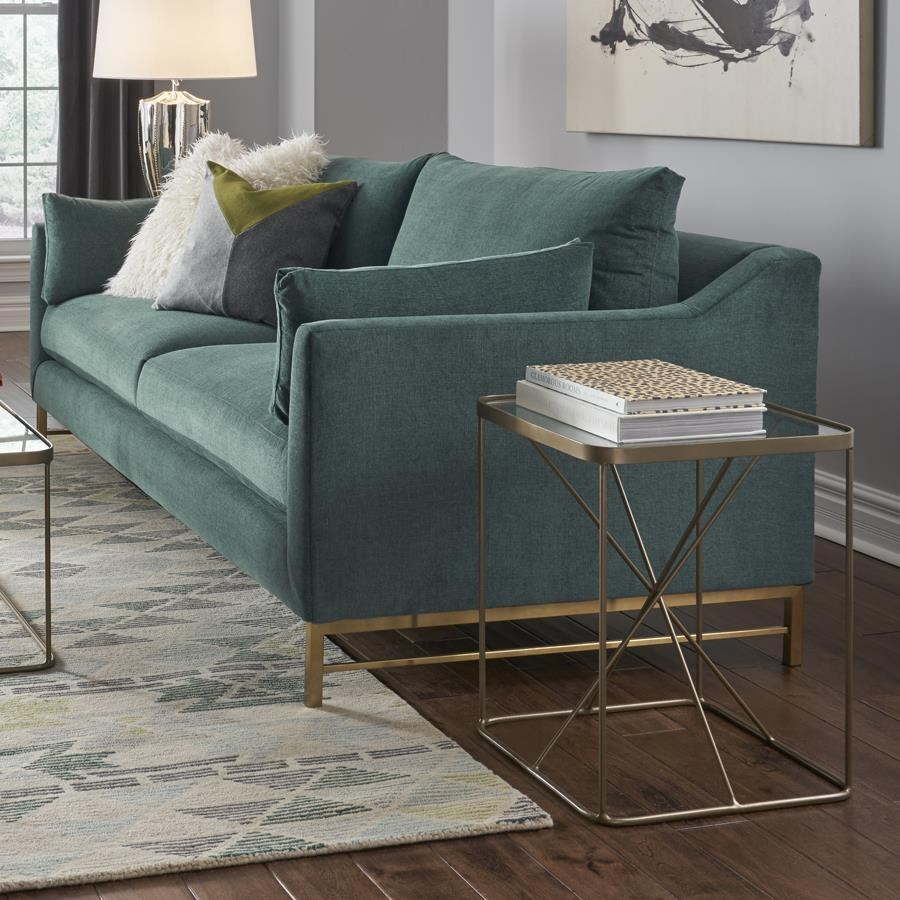 Pleasant Delphine Sofa With Metal Base Ibusinesslaw Wood Chair Design Ideas Ibusinesslaworg