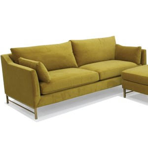 H645 Contemporary Stationary Sofa in Vander Gold Fabric by McCreary Modern