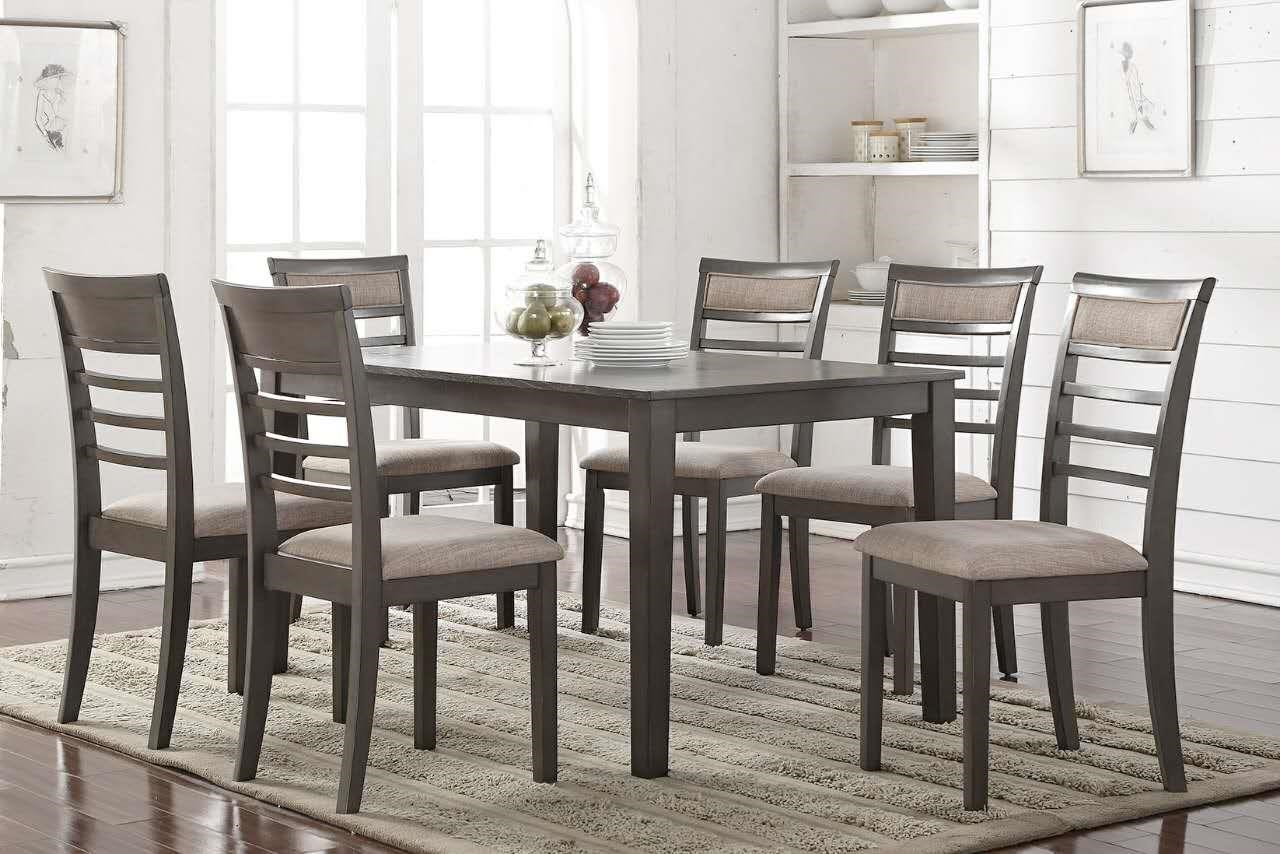 D5051 7pc Dining Set - All in One Box by McFerran Home Furnishings at Del Sol Furniture