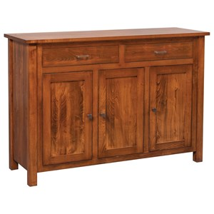 Meadow Lane Wood Adele Buffet with Smooth Top